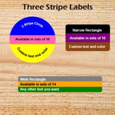 Three Stripe Labels