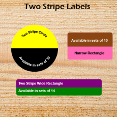 Two Stripe Labels