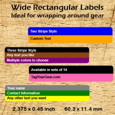 Wide Rectangular Labels